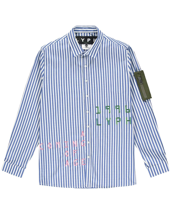 LYPH HARVARD SHIRT BLUE-STRIPE