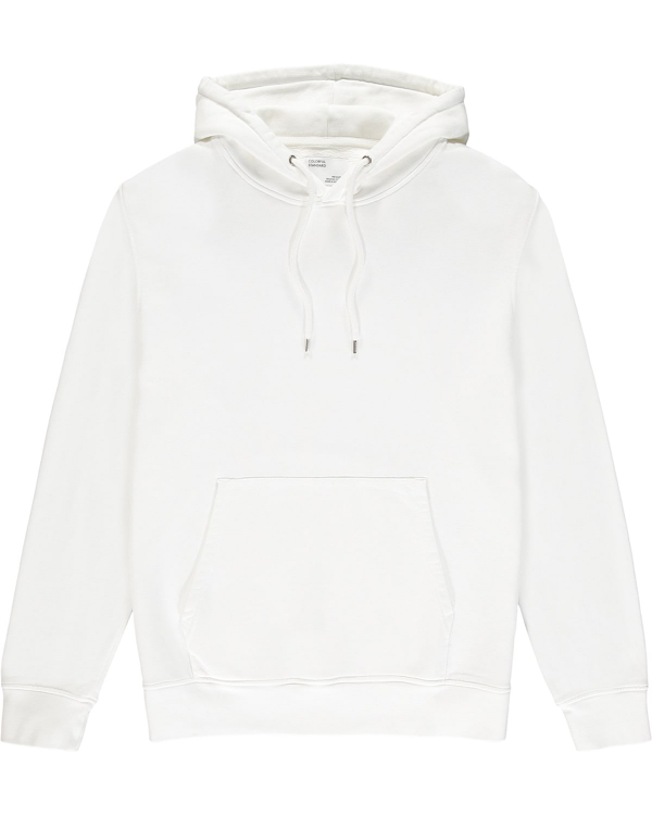 COLORFUL STANDARD HOODIE WHITE