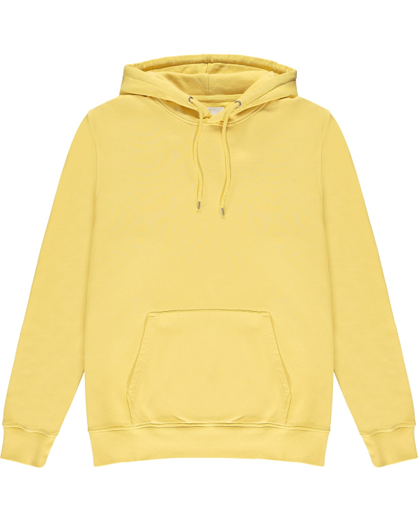 COLORFUL STANDARD HOODIE YELLOW