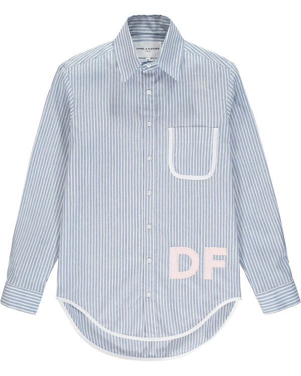 DANIEL W FLETCHER STRIPE OXFORD SHIRT