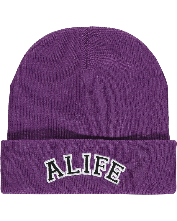 ALIFE COLLEGIATE BEANIE PURPLE