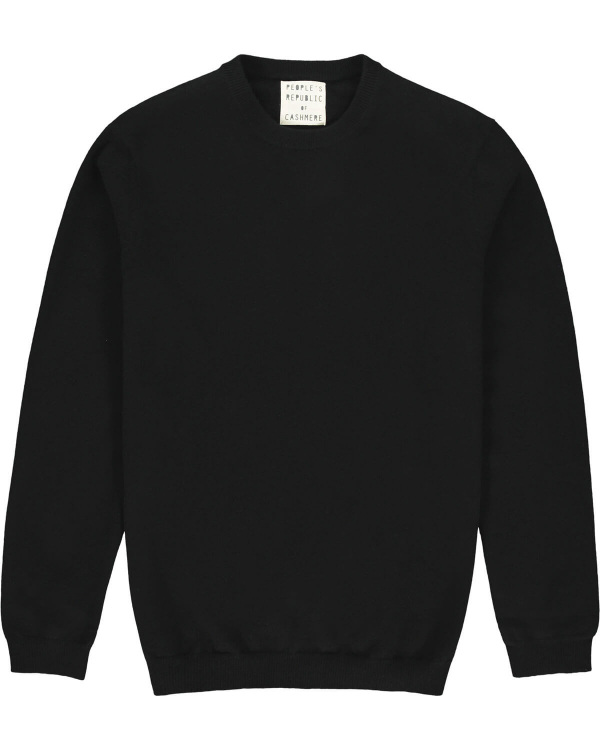 PEOPLE'S REPUBLIC OF CASHMERE ORIGINAL ROUNDNECK BLACK