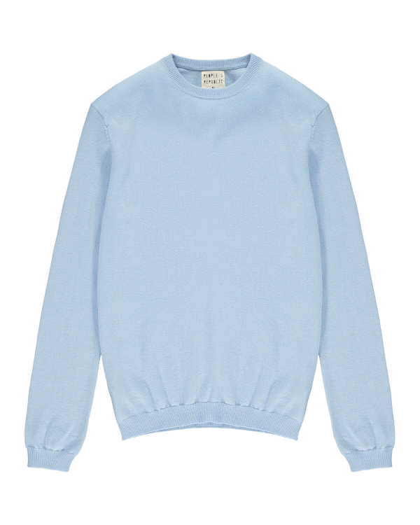 PEOPLE'S REPUBLIC OF CASHMERE ORIGINAL ROUNDNECK LIGHT BLUE