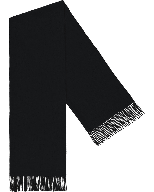 PEOPLE'S REPUBLIC OF CASHMERE ORIGINAL WOVEN SCARF BLACK