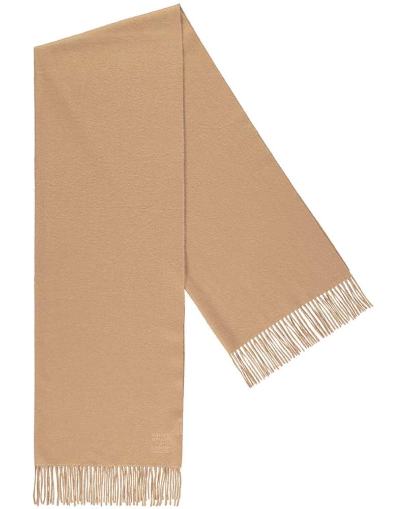 PEOPLE'S REPUBLIC OF CASHMERE ORIGINAL WOVEN SCARF CAMEL