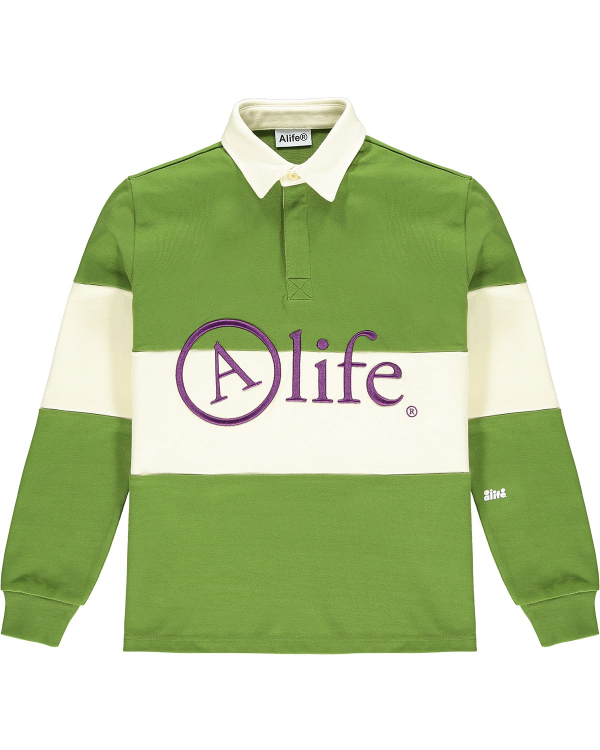 ALIFE RUGBY SHIRT GREEN