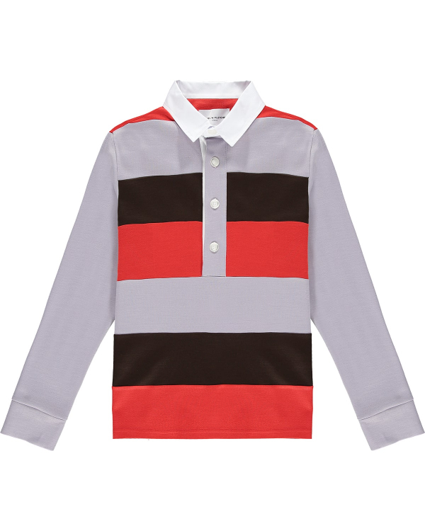 DANIEL W FLETCHER STRIPED RUGBY SHIRT