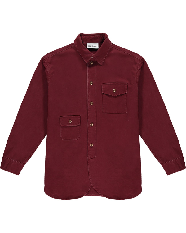 HAN KJOBENHAVN ARMY SHIRT DARK RED