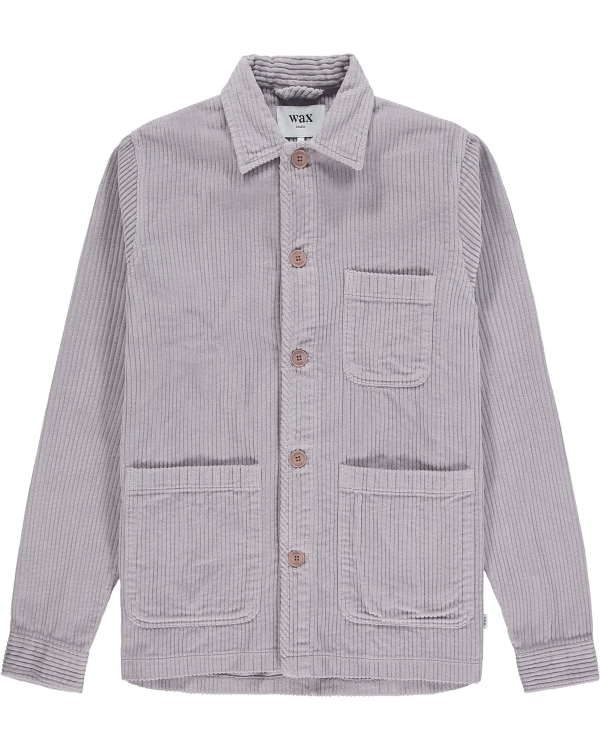 Wax London Chet-Overshirt Grey-Violet