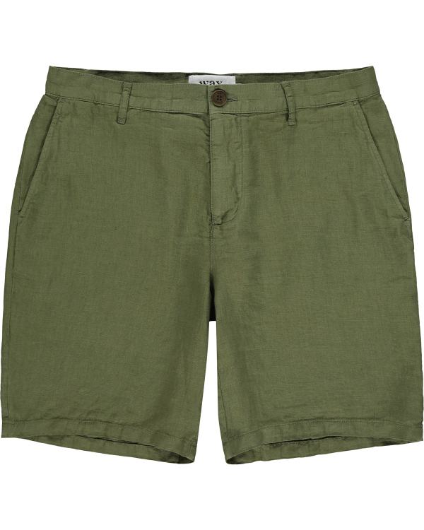 Wax London Linen-Shorts Khaki