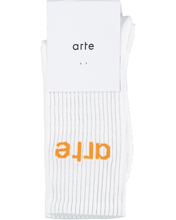 Arte Logo Sock White/Orange