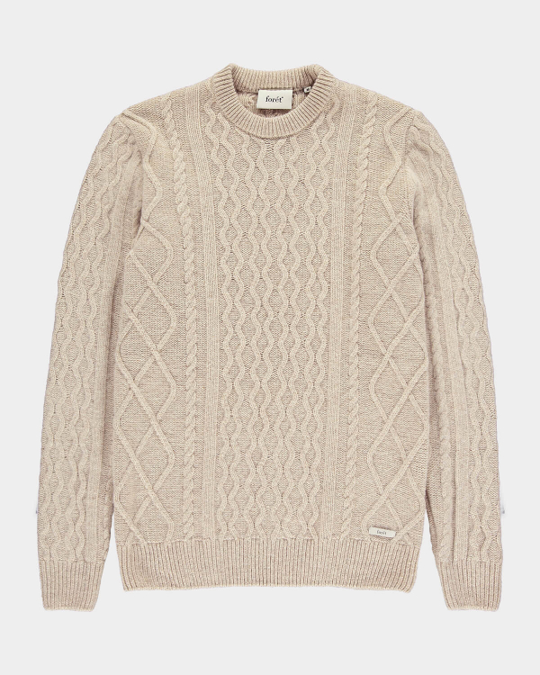 Foret Grow Wool Cable Knit